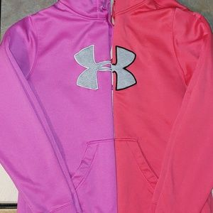 Two Women's Under Armour Hoodies Large